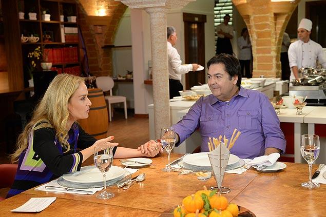 PAIZÃO: Fausto Silva falou sobre a família em um almoço animado com Angélica, em São Paulo, para o programa 'Estrelas' (Globo) do próximo sábado (Foto: Zé Paulo Cardeal/Globo)