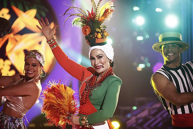 Tico-Tico: Com caracterização caprichada, a cantora Rosemary fará a performance de Carmen Miranda no Esse Artista Sou Eu' da próxima segunda (1º), no SBT