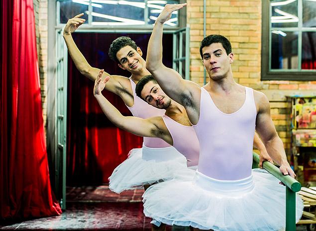 Tutu Na sexta (12), os meninos da academia do Gael (Eriberto Leão), em 'Malhação', vão pagar mico por ficarem brincando com quem tem talento para a dança (Crédito: Cynthia Salles/Globo)