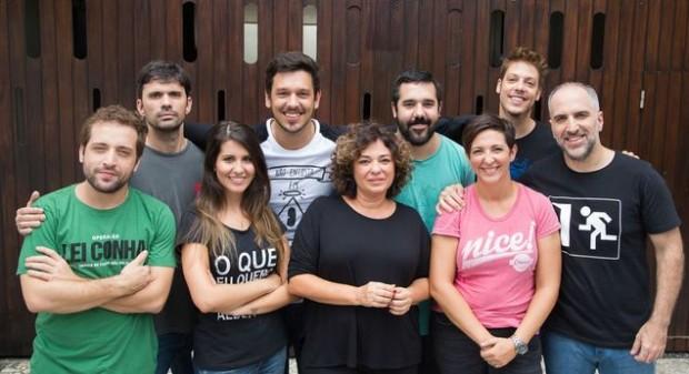 Diretores do Porta dos Fundos na sede do grupo, no Rio (Cecilia Acioli/Folhapress)