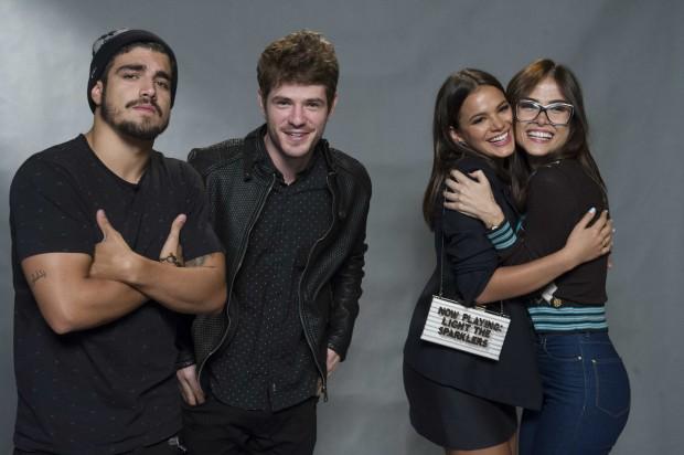 Caio Castro, Maurício Destri, Bruna Marquezine e Maria Casadevall, atores de 'I Love Paraisópolis' (Divulgação/Globo)