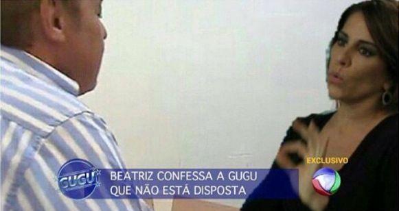 """Imagem brinca com Gugu, que costuma entrevistar criminosos como Suzane von Richthofen, arrancando confissão de Beatriz, vilã de """"Babilônia"""" (Globo) (Foto: Reprodução Instagram)"""