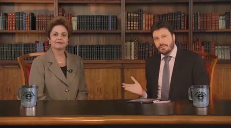Danilo Gentili em sátira de entrevista com Dilma Rousseff (Reprodução)