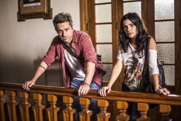 >> ROMERO E TÓIA Alexandre Nero e Vanessa Giácomo gravam as primeiras cenas como o casal protagonista de 'A Regra do Jogo' (Globo), próxima novela das 21h (Aline Massuca/Divulgação)