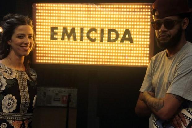 OS MANOS PÁ No 'Cultura Livre' (Cultura) do dia 7 de outubro, às 23h30, a apresentadora Roberta Martinelli receberá o cantor Emicida (Tânia Gonçalves/Divulgação)