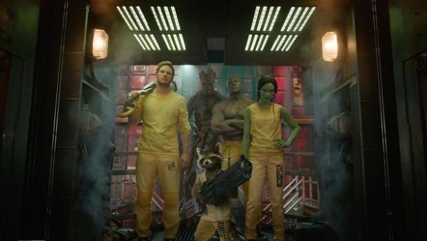 'Guardiões da Galáxia', ficção científica da Marvel, será exibida no dia 26, às 22h, no Telecine. O longa, de James Gunn, concorreu ao Oscar de maquiagem e efeitos especiais. (Divulgação)