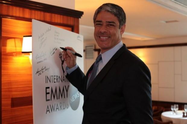 William Bonner representa rede Globo no Emmy do Jornalismo