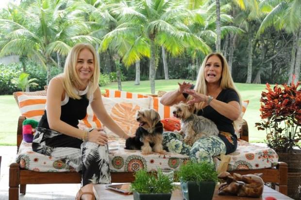 AUMIGA Angélica recebe Susana Vieira e seus cachorrinhos no 'Estrelas' (Globo) deste sábado (7) (Deborah Montenegro/Divulgação)