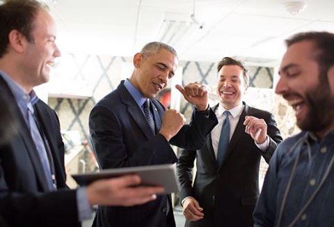 Obama com Jimmy Fallon no 'Tonight Show' (Reprodução Instagram/TonightShow)