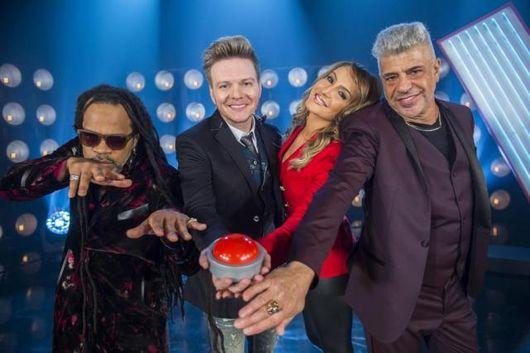 Carlinhos Brown, Michel Teló, Claudia Leitte e Lulu Santos, jurados do 'The Voice' (João Miguel Junior/Divulgação)