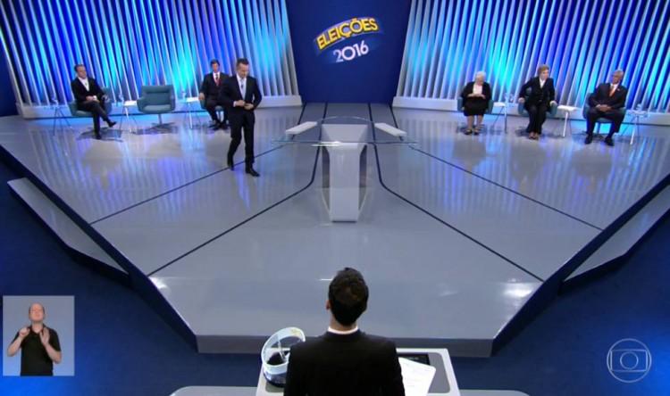 Debate da Globo com os candidatos à Prefeitura de SP (Reprodução)