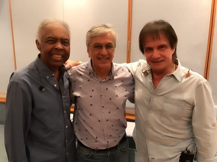 Gil, Caetano e Roberto Carlos em ensaio (Divulgação/TV Globo)