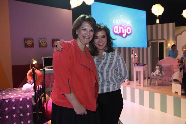 Leonor Corrêa e Iris Abravanel lançam a novela 'Carinha de Anjo', do SBT  (Lourival Ribeiro/Divulgação)