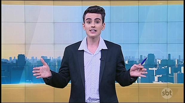 """O apresentador Dudu Camargo, do """"Primeiro Impacto"""" (SBT) (Reprodução)"""