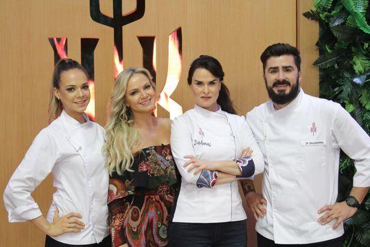 Da esq. para a dir.: Gilda Maria Bley, Eliana, Danielle Dahoui e Zi Saldanha no 'Hell's Kitchen' (Gabriel Gabe/Divulgação)
