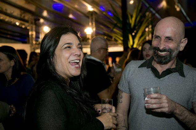 João Ximenes Braga ao lado de Izabel de Oliveira, na festa da novela 'Geração Brasil' (Paula Giolito/Folhapress)