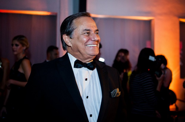 """O apresentador Ronnie Von em festa dos 10 anos do """"Todo Seu"""", em 2014 (Raquel Cunha/Folhapress)"""