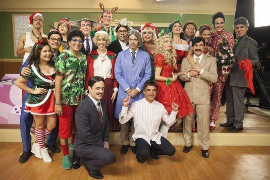 Elenco da 'Escolinha' no especial de Natal(Pedro Curi/Divulgação)