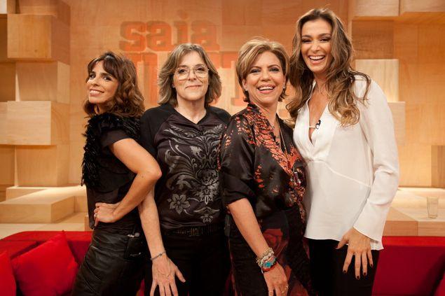 Maria Ribeiro, Barbara Gancia, Astrid Fontenelle e Monica Martelli, integrantes do 'Saia Justa' (GNT) (Tricia Vieira/Divulgação)