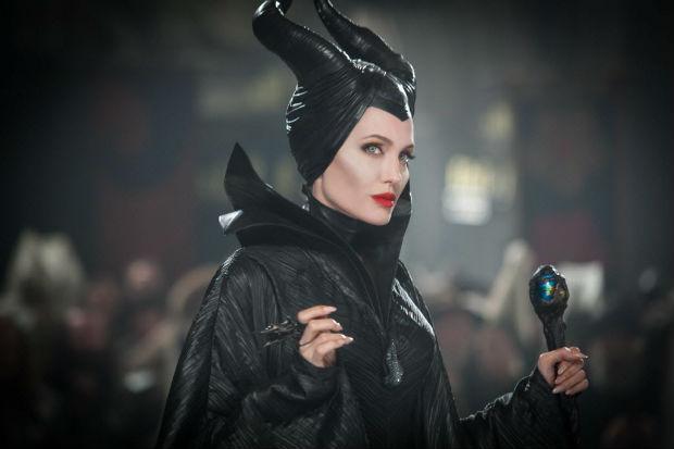 Angelina Jolie como a bruxa do filme 'Malévola', da Disney (Divulgação)