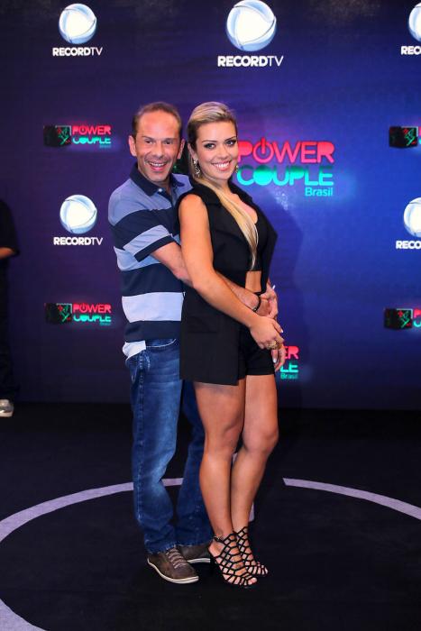 Rafael Ilha e Aline Kezh participarão da segunda temporada do 'Power Couple' (Record) (Divulgação)